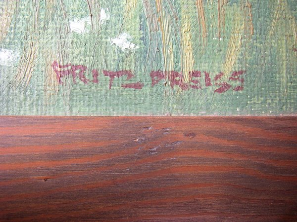 Signatur des Malers Fritz Preiss