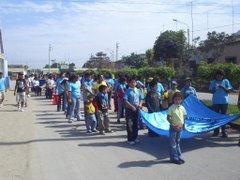 DESFILE CIVICO EN EL 71 ANIVERSARIO DE NUESTRA PARROQUIA