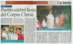 PUEBLO CELEBRO FIESTA DEL CORPUS CHRISTI