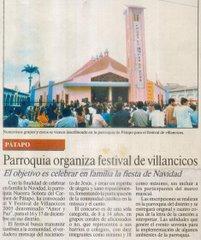 PARROQUIA ORGANIZA FESTIVAL DE VILLANCICOS