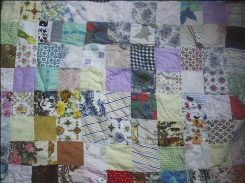 My baby quilt made by Grandma Alma - now being used by Baby Ahmad!