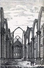 Igreja do Carmo em meados do Século XIX