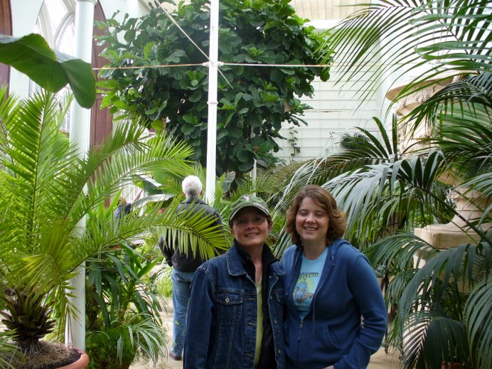 My oldest daughter Alexandria and me in the conservatory on the Castle grounds.