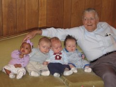 Grandpa and the babies!!