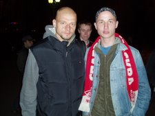 Me and Kowalewski, goalkeeper on Spartak and the Polish national