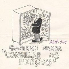 Cartun para jornal, de Abel Fernandes
