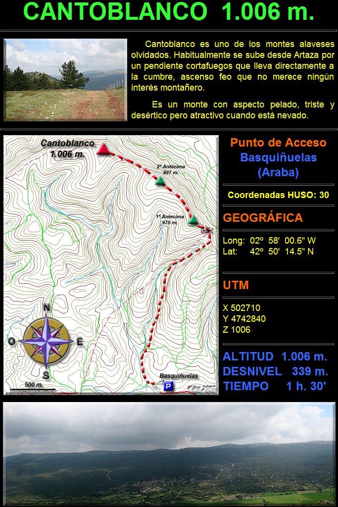 Ascenso al Monte Cantoblanco 1.006 m.