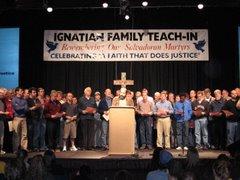 Jesuits at closing prayer