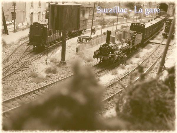 La gare de Surzillac en 1910