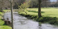 Afon Dulas yng Nghanol y Coleg