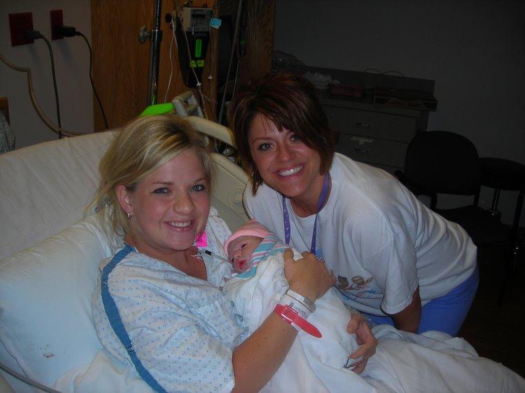 Brooke with her nurse Tina