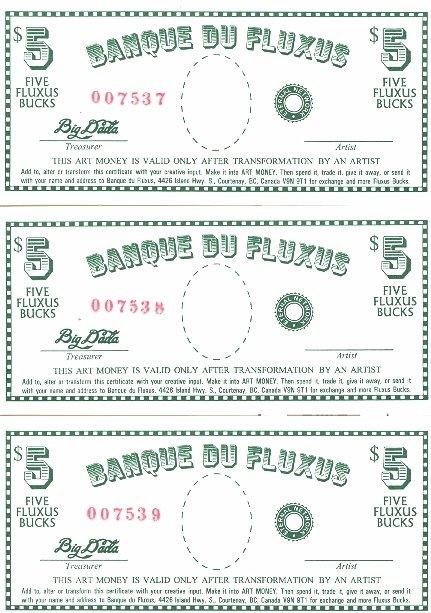 Ed Varney, Canada, Fluxus Bucks, Posted 06/07