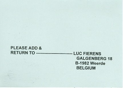 Luc Fierens, Belgium--Add and return to Luc Fierens