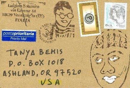 Luigino Solamito, Ventimiglia, Italy--IInteresting rubber stamps!