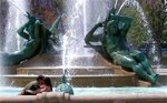 Romance in Swann Fountain