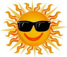 o sol de verão