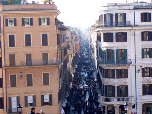 From the Spanish Steps
