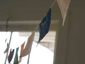 Prayer Flag my friend Shirley hung in my studio