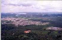 Vista aérea da Cratera do Colônia