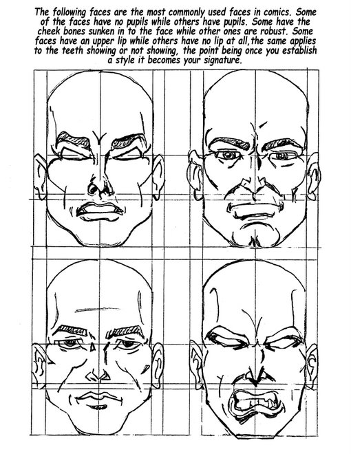 Drawing Comic Face Styles.