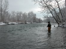 Winter Fishing in Town