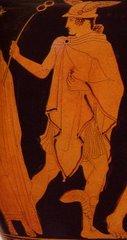Figura d'Hermes sobre un crater datat en 440 aC