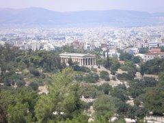 L'àgora d'Atenes. El temple dedicat a Hefest i a Atena.