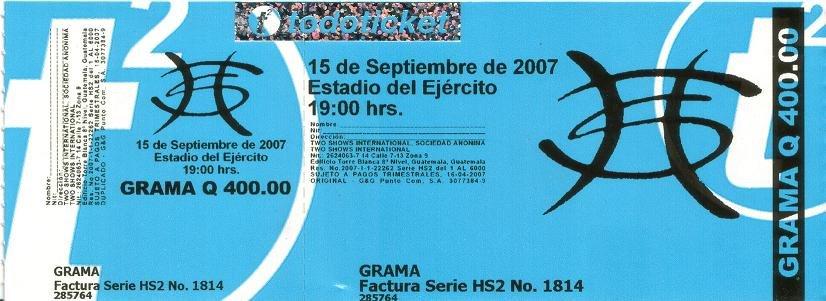 ENTRADAS PARA EL CONCIERTO DE HEROES DEL SILENCIO EN GUATEMALA A MITAD DE PRECIO!!