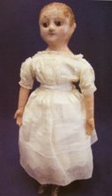 Izannah Walker Doll Cloth with Painted Face