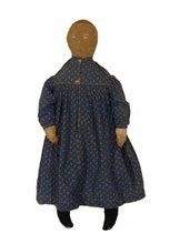 Early Cloth Doll in Indygo