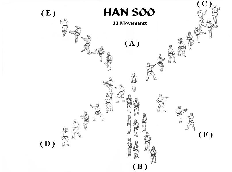 """HANSOO : El Poomse """"Hansoo"""" se deriva de la palabra 'agua' es típica su fluidez y adaptabilidad"""