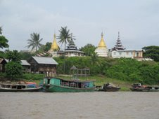 pagodas on river bank