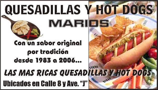 HOT DOGS MARIOS