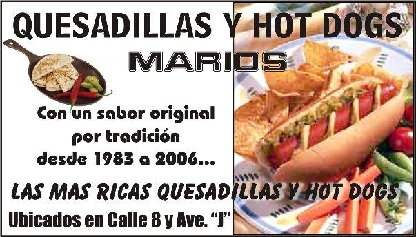 HOT DOGS MARIOS