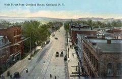 Main Street Cortland Postcard