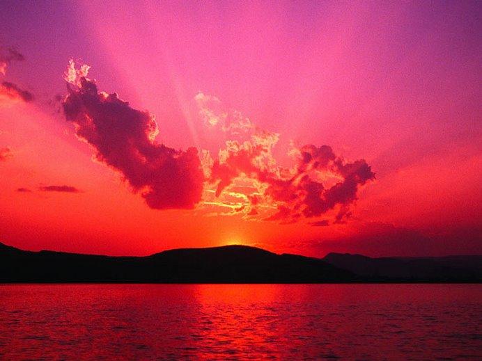 Sunset ....