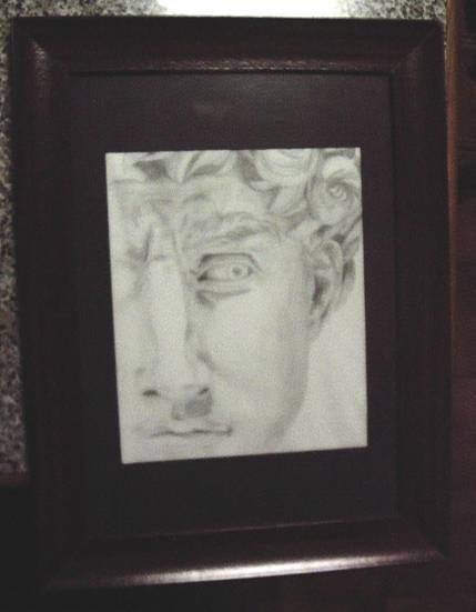 Rosto de David, a partir da obra de Migual Ângelo