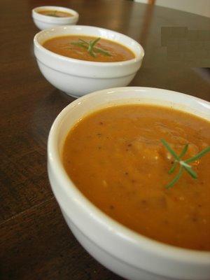 Pumpkin Soup With Red Cabbage And Cumin Seeds (Balkabağı Çorbası)