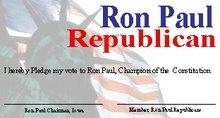 Ron Paul Card Example