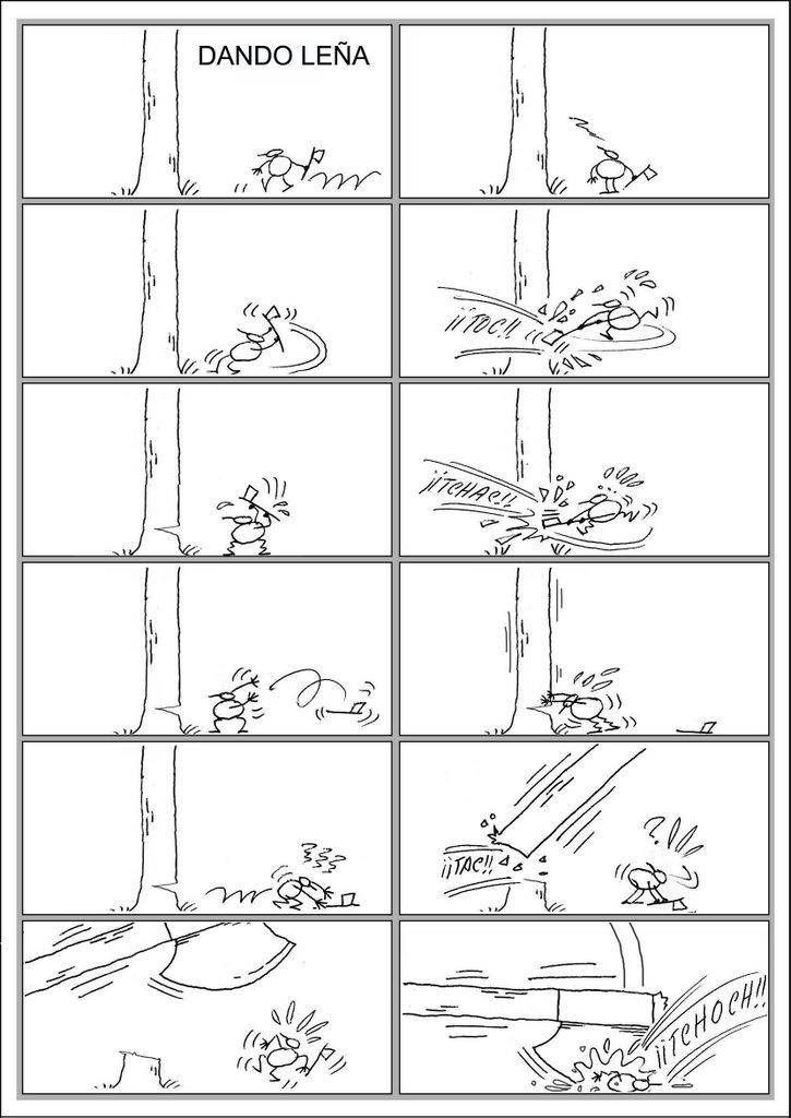 Dando leña