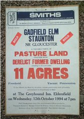 Gadfield Elm - Auction sign