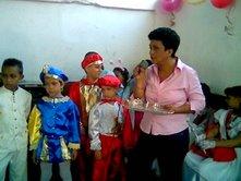 "Niños celebrando los Carnavales 2007. U.E.P. Virgen de la Chiquinquirà"""