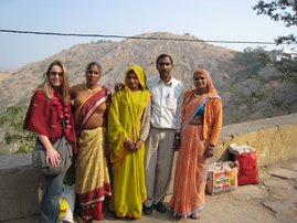 en route to the monkey temple, jaipur