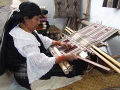 Backstrap Weaver in Peguche