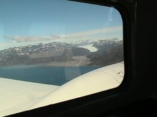 Glacial image from the cabin's panoramic windows