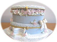 Blue Limoges Cake