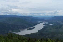 Down the Yukon River from 'the Dome'
