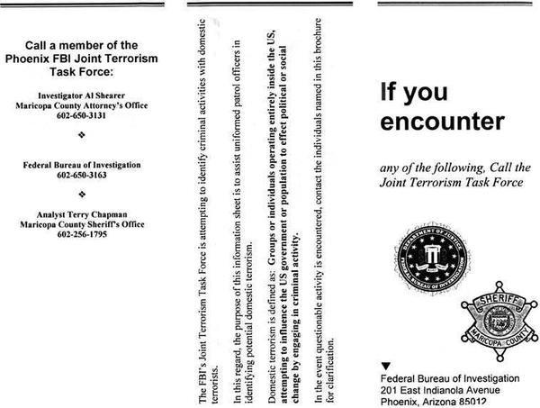 FBI TERRORISM PAMPHLET