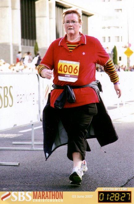 Finishing the Christchurch Marathon - 10km walk