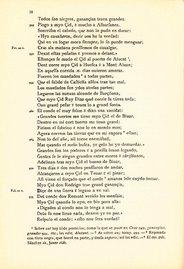 Página de la edición facsímil del Cantar de Mio Cid donde se nombra a Montalbán (verso 952)